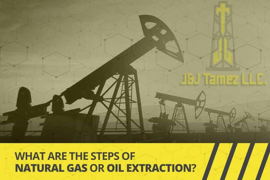 Steps for oil and natural gas extraction